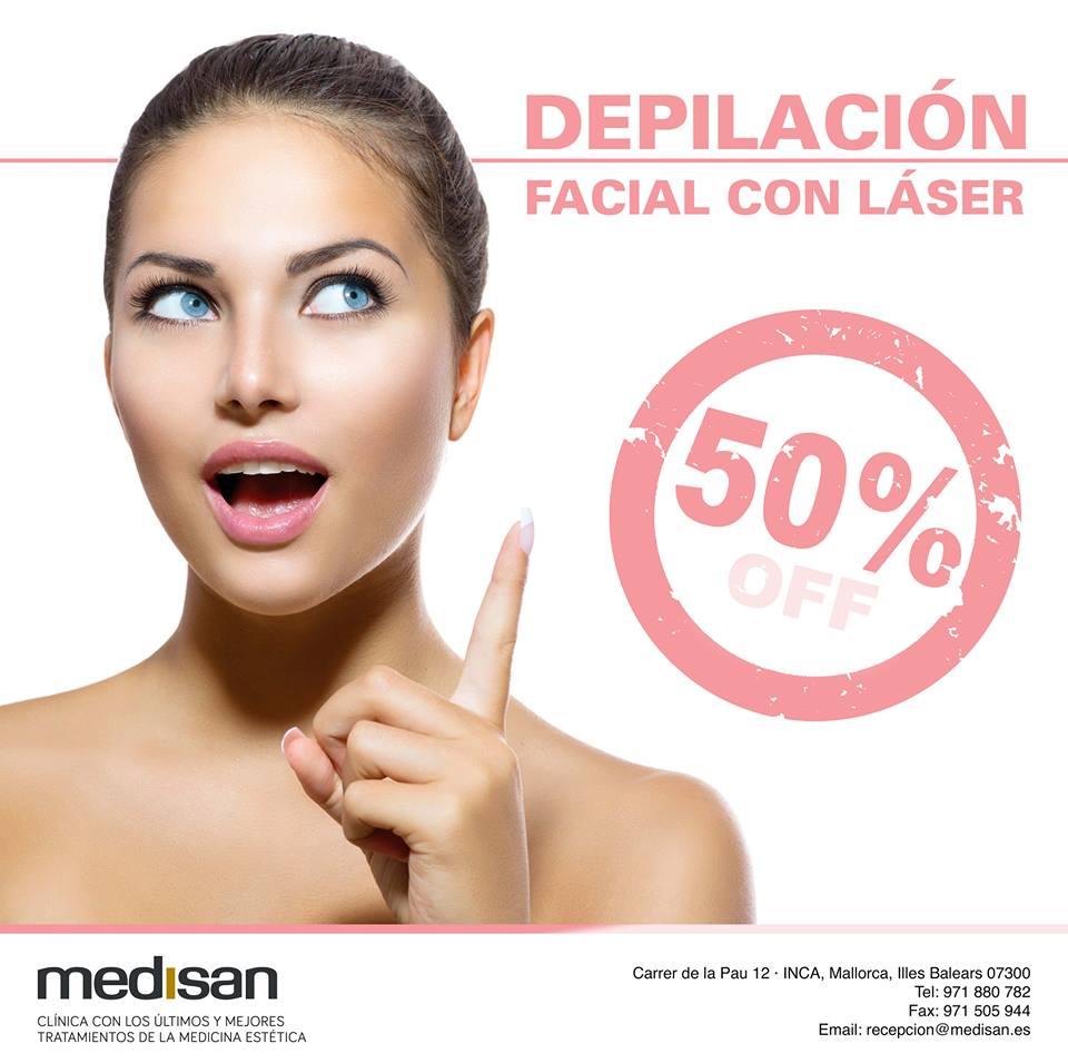 promo depilación facial laser mallorca
